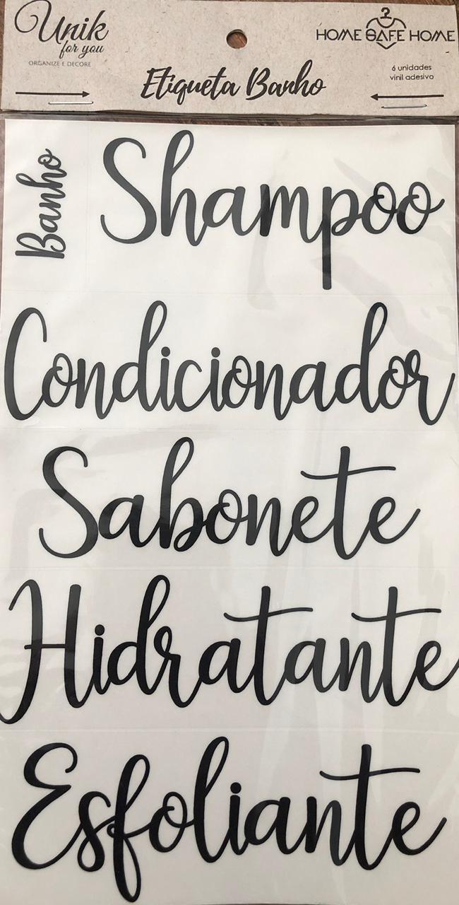 ETIQUETAS DE CUIDADOS - CALIGRAFIA/MÉDIO