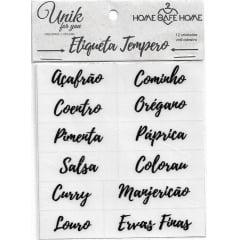 Kit de Etiquetas de Identificação para Temperos