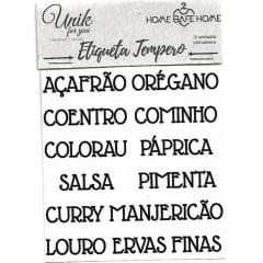 ETIQUETAS PARA TEMPERO - BASTÃO CAIXA ALTA/MINI